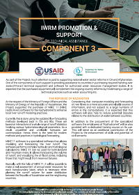 IWRM PROMOTION & SUPPORT Technical Assistance Component 3
